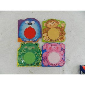 Set of 4 touch and feel animal baby toddler books